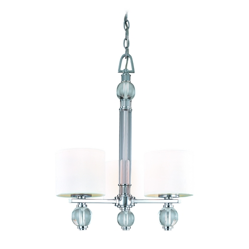 Troy Lighting Modern Mini-Chandelier with White Shades in Polish Chrome Finish F1588PC