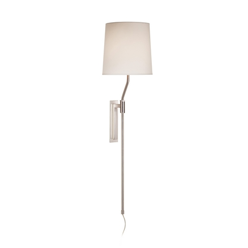 Sonneman Lighting Modern Pin-Up Lamp with White Shade in Polished Nickel Finish 7009.35