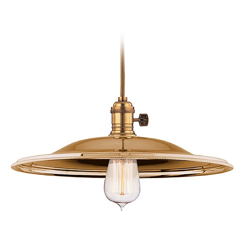 Hudson Valley Lighting Pendant Light in Aged Brass Finish 8002-AGB-MM2