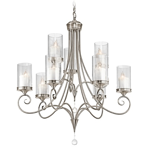 Kichler Lighting Kichler Chandelier with Clear Glass in Classic Pewter Finish 42863CLP