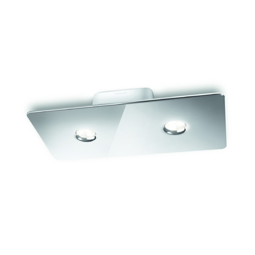 Philips Lighting Modern LED Semi-Flushmount Light in Chrome Finish 316051148