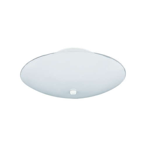 Sea Gull Lighting Flushmount Light with White Glass in White Finish 7355-15