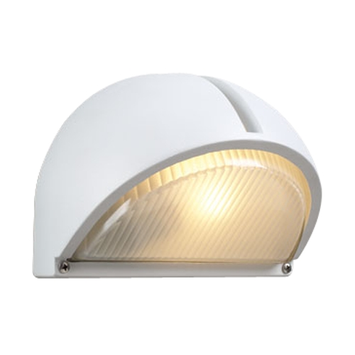 PLC Lighting Modern Outdoor Wall Light with Clear Glass in White Finish 1844 WH