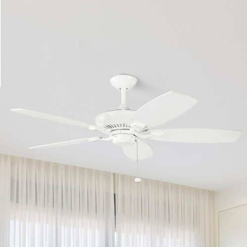 Kichler Lighting Kichler 52-Inch Pull-Chain Ceiling Fan with Five Blades 300117WH