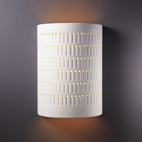 Justice Design Group Sconce Wall Light in Bisque Finish CER-2295-BIS