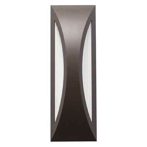 Kichler Lighting Kichler Lighting Cesya Architectural Bronze LED Outdoor Wall Light 49436AZ