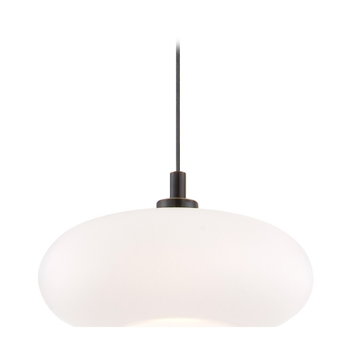 Holtkoetter Lighting Holtkoetter Modern Low Voltage Mini-Pendant Light with White Glass C8110 S006 G5701 HBOB