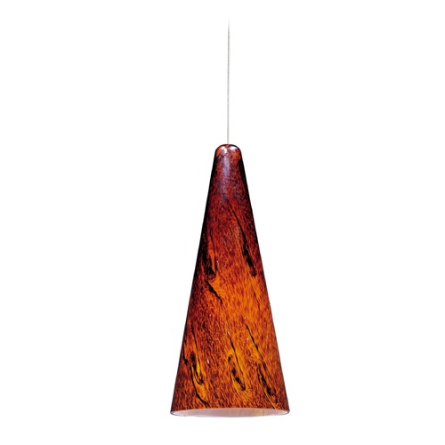 ET2 Lighting Minx Bronze Mini-Pendant Light with Conical Shade E94329-102BZ