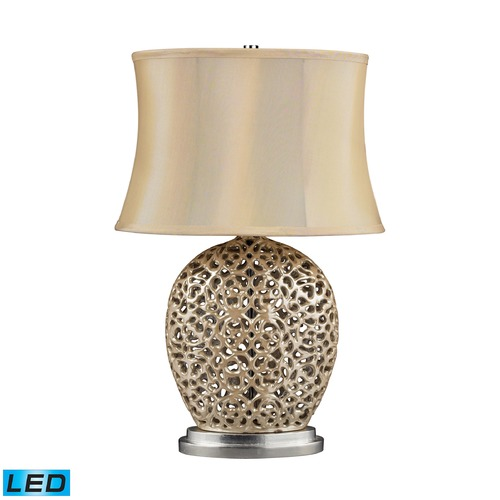 Dimond Lighting Dimond Lighting Pearlescent Cream LED Table Lamp with Oval Shade D2168-LED