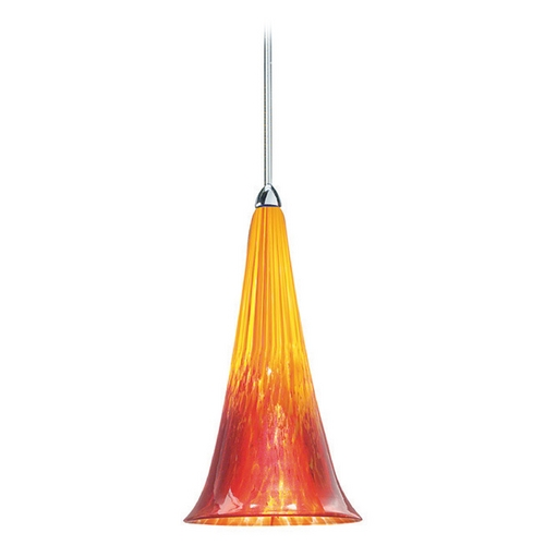 WAC Lighting Wac Lighting European Collection Chrome Mini-Pendant with Conical Shade MP-614-YR/CH