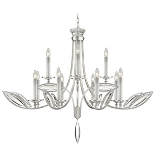 Fine Art Lamps Fine Art Lamps Marquise Platinized Silver Leaf Crystal Chandelier 843740-11ST