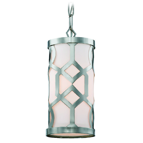 Crystorama Lighting Crystorama Lighting Jennings Polished Nickel Mini-Pendant Light with Cylindrical Shade 2260-PN