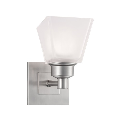 Norwell Lighting Norwell Lighting Matthew Brush Nickel Sconce 9635-BN-SQ