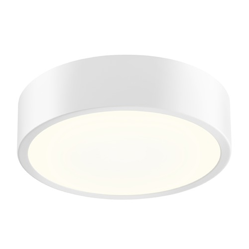 Sonneman Lighting Sonneman Pi Textured White LED Flushmount Light with Drum Shade 2745.98