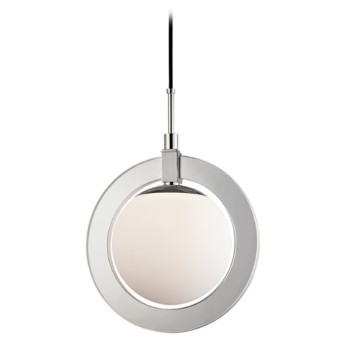 Hudson Valley Lighting Mid-Century Modern LED Pendant Light Polished Nickel Caswell by Hudson Valley 5116-PN