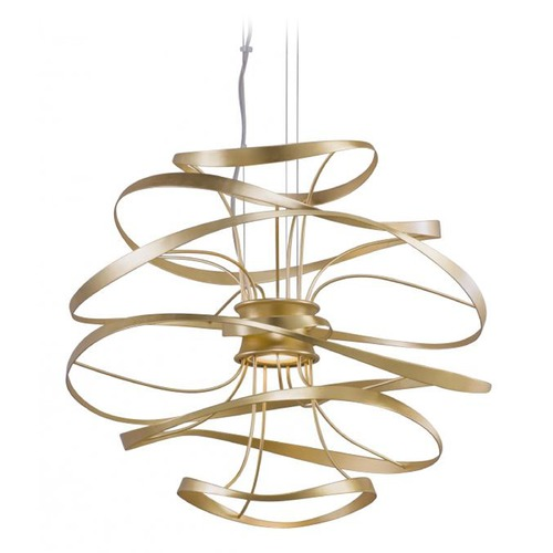 Corbett Lighting Corbett Lighting Calligraphy Gold Leaf LED Pendant Light 216-41