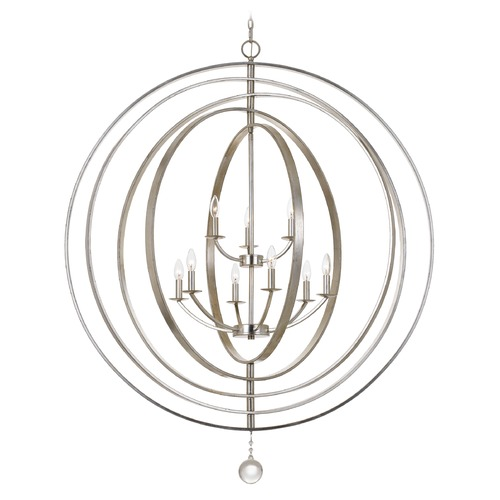 Crystorama Lighting Crystorama Lighting Luna Antique Silver Pendant Light 587-SA