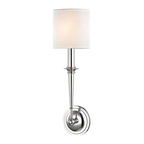 Hudson Valley Lighting Hudson Valley Lighting Lourdes Polished Nickel Sconce 1231-PN