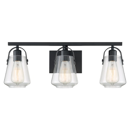 Satco Lighting Satco Lighting Skybridge Matte Black Bathroom Light 60/7103