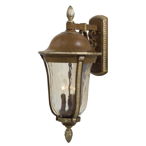Minka Lighting Outdoor Wall Light with Clear Glass in Mossoro Walnut W/silver Highlights Finish 8752-161