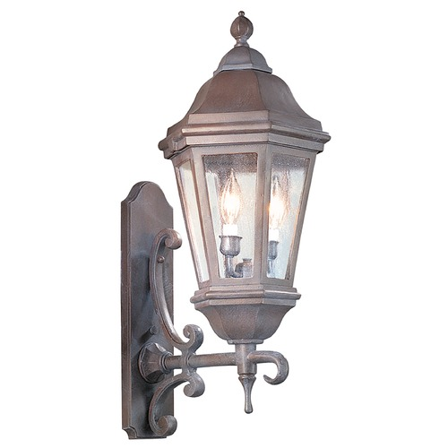 Troy Lighting Outdoor Wall Light with Clear Glass in Bronze Patina Finish BCD6831BZP