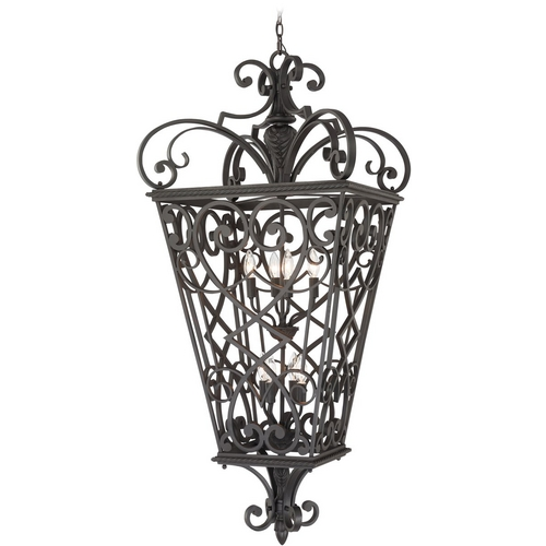 Quoizel Lighting Outdoor Hanging Light in Marcado Black Finish FQ1931MK01