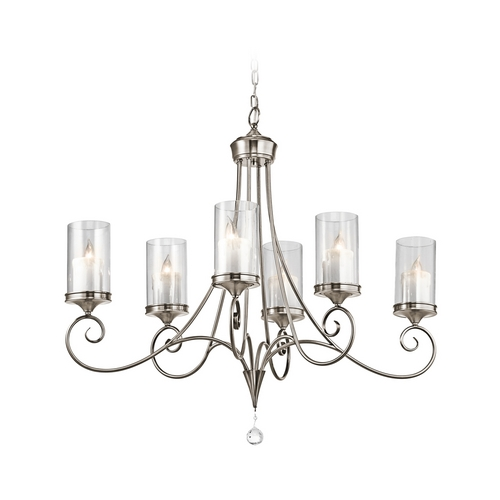 Kichler Lighting Kichler Chandelier with Clear Glass in Classic Pewter Finish 42862CLP