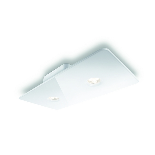 Philips Lighting Modern LED Semi-Flushmount Light in White Finish 316053148