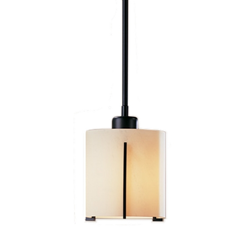 Hubbardton Forge Lighting Adjustable Mini-Pendant with Stone Glass 18765-252-10H140