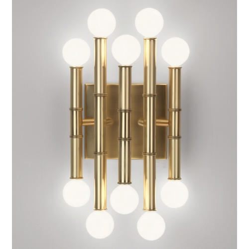 Robert Abbey Lighting Mid-Century Modern Plug-In Wall Lamp Brass Jonathan Adler Meurice by Robert Abbey 686