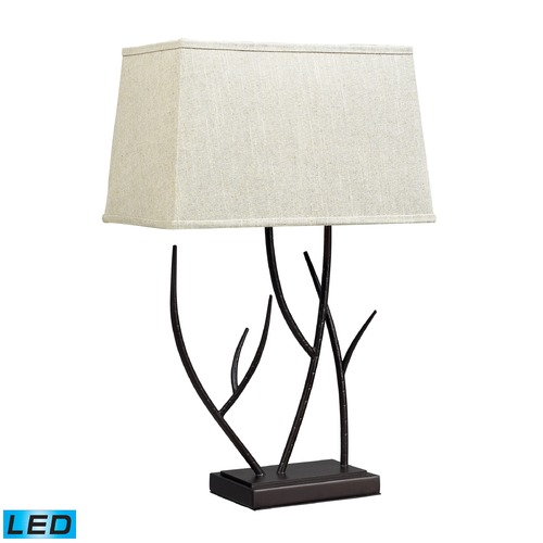 Dimond Lighting Dimond Lighting Bronze LED Table Lamp with Rectangle Shade D2209-LED