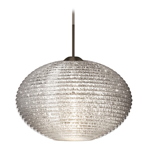 Besa Lighting Besa Lighting Pape Bronze LED Pendant Light with Globe Shade 1JT-4912GL-LED-BR
