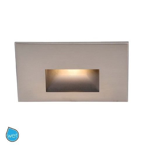WAC Lighting WAC Lighting Ledme Brushed Nickel LED Recessed Step Light WL-LED100-BL-BN