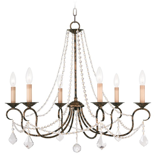 Livex Lighting Livex Lighting Pennington Venetian Golden Bronze Crystal Chandelier 6516-71