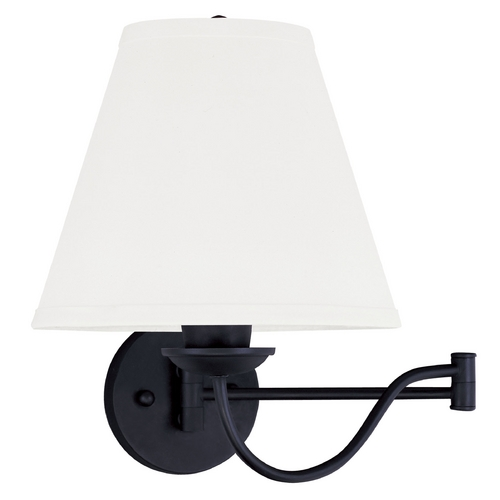 Livex Lighting Livex Lighting Ridgedale Black Swing Arms Lamp 6471-04