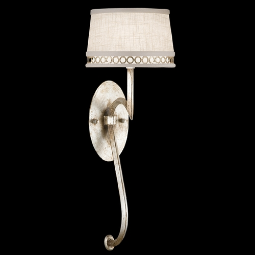 Fine Art Lamps Fine Art Lamps Allegretto Silver Platinized Silver Leaf with Subtle Brown Highlights Sconce 784650ST