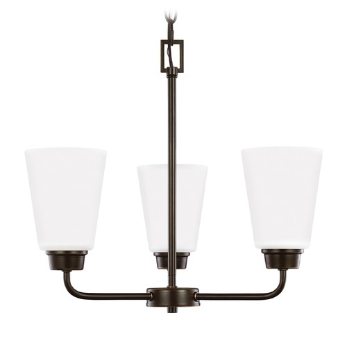 Sea Gull Lighting Sea Gull Lighting Kerrville 3-Light Mini Chandelier in Heirloom Bronze 3115203-782