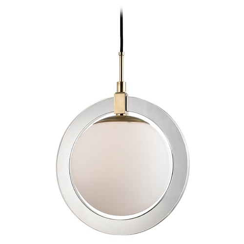 Hudson Valley Lighting Hudson Valley Lighting Caswell Aged Brass LED Pendant Light with Globe Shade 5118-AGB