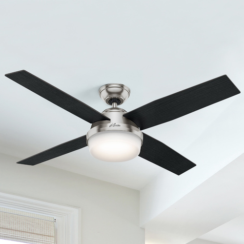 Hunter Fan Company Hunter Fan Company Dempsey Brushed Nickel LED Ceiling Fan with Light 59216