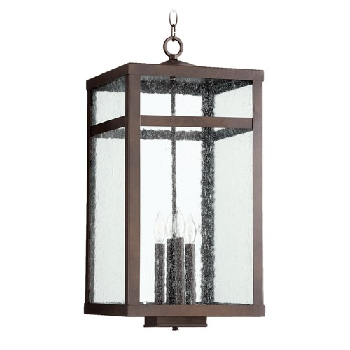 Quorum Lighting Quorum Lighting Clermont Oiled Bronze Outdoor Hanging Light 774-4-86