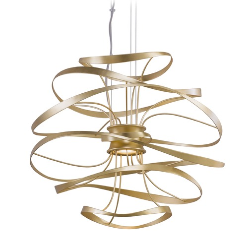Corbett Lighting Corbett Lighting Calligraphy Gold Leaf LED Pendant Light 216-42