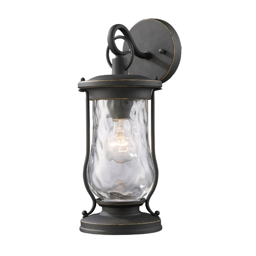Elk Lighting Outdoor Wall Light with Clear Glass in Matte Black Finish 43016/1
