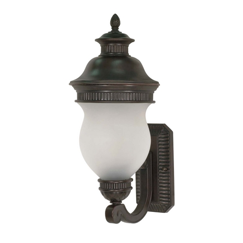 Nuvo Lighting Outdoor Wall Light with White Glass in Chestnut Bronze Finish 60/875