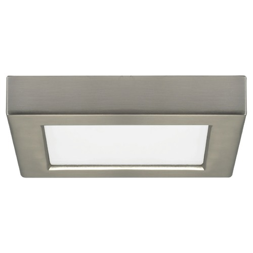 Design Classics Lighting 5-1/2-Inch Square Nickel LED Flushmount Ceiling Light - 2700K 8325-27-SN