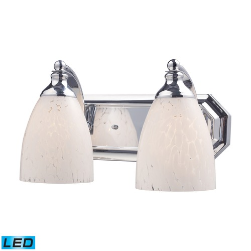 Elk Lighting Elk Lighting Bath and Spa Polished Chrome LED Bathroom Light 570-2C-SW-LED