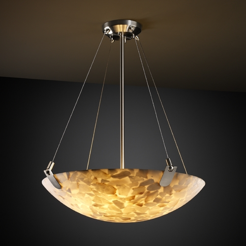 Justice Design Group Justice Design Group Alabaster Rocks! Collection Pendant Light ALR-9624-35-NCKL