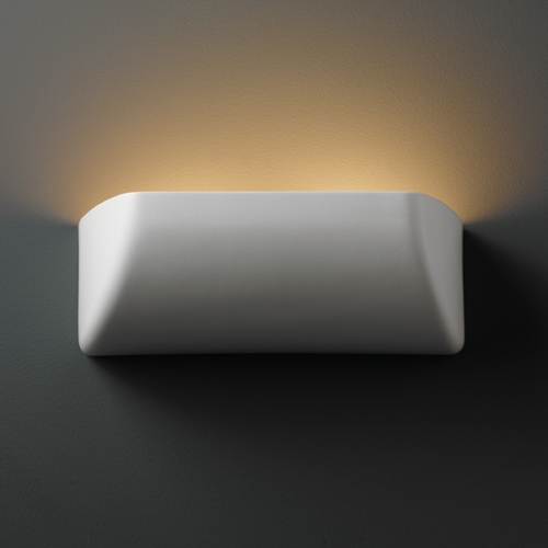 Justice Design Group Sconce Wall Light in Matte White Finish CER-2950-MAT