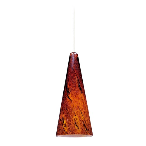 ET2 Lighting Minx Bronze Mini-Pendant Light with Conical Shade E94429-102BZ