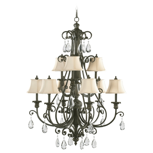 Quorum Lighting Quorum Lighting Fulton Classic Bronze Chandelier 6132-9-54