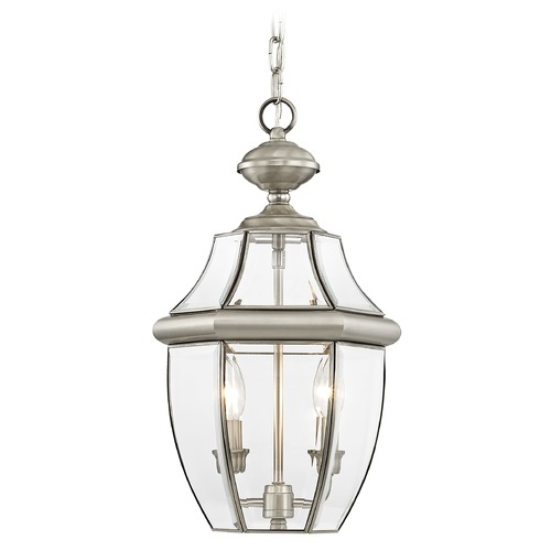Livex Lighting Livex Lighting Monterey Brushed Nickel Outdoor Hanging Light 2255-91